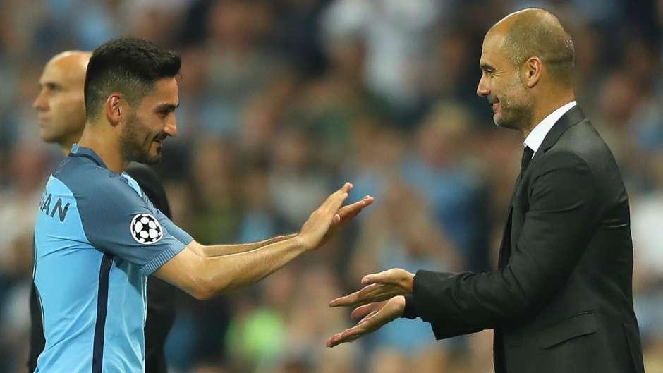 Ilkay Gundogan Pep Guardiola Manchester City