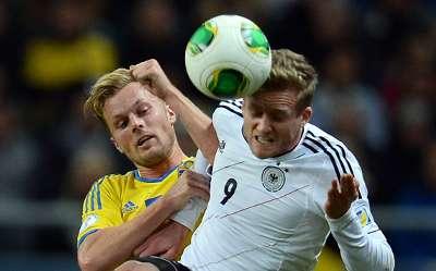 Sebastian Larsson Andre Schürrle Germany Sweden 2014 World Cup Qualifier 10152013