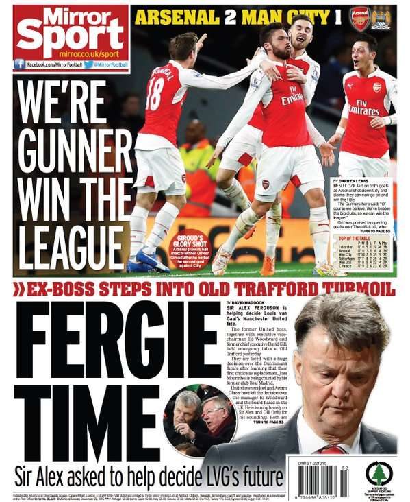 Daily Mirror 22122015