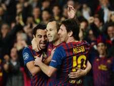 Xavi, Iniesta und Messi wollen mit dem FC Barcelona gegen Atletico Madrid ins Halbfinale der Champions League einziehen