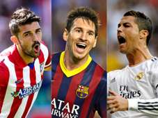 Villa Messi Ronaldo Atletico Madrid Barcelona Real Madrid