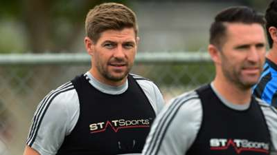 Steven Gerrard LA Galaxy Training 07072015