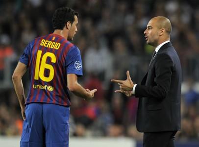 Sergio Busquets Josep Guardiola Barcelona