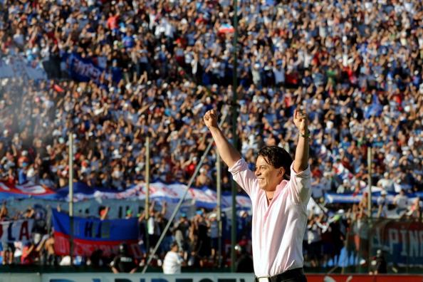marcelo gallardo en su retiro en Nacional