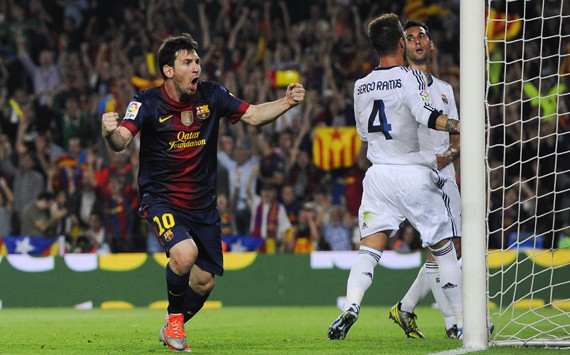 LIONEL MESSI BARCELONA REAL MADRID LA LIGA 07102012