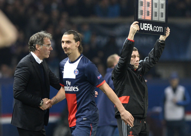 PSG pair Laurent Blanc and Zlatan Ibrahimovic