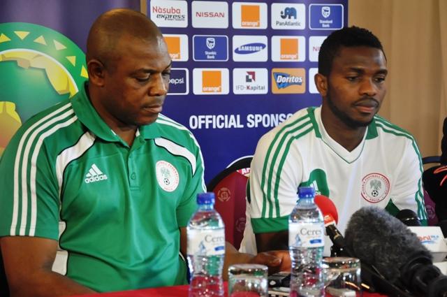 Nigeria press conference - Stephen Keshi & Joseph Yobo