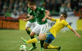 2014 FIFA World Cup Qualifier - Sweden v Republic of Ireland, James McCarthy, Kim Källström