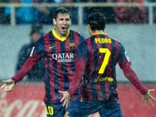 Lionel Messi Pedro Barcelona Sevilla 02092014