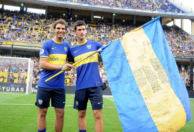 Torneo Inicial Rafael Nadal and Novak Djokovic Boca v All Boys