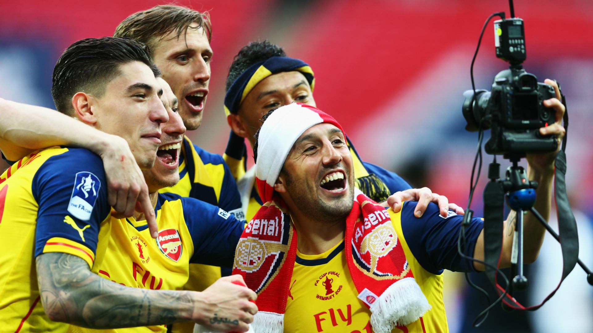 Santi Cazorla Nacho Monreal Hector Bellerin Arsenal FA Cup