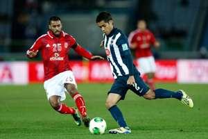 Severo Meza y Hossam Ashour en el Monterrey/Al-Ahly