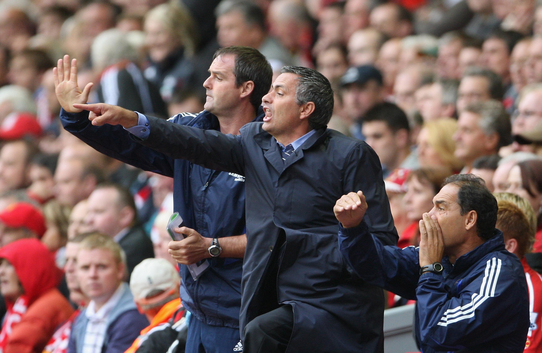 Steve Clarke and Jose Mourinho.