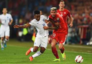 Raheem Sterling England; Valon Behrami Switzerland
