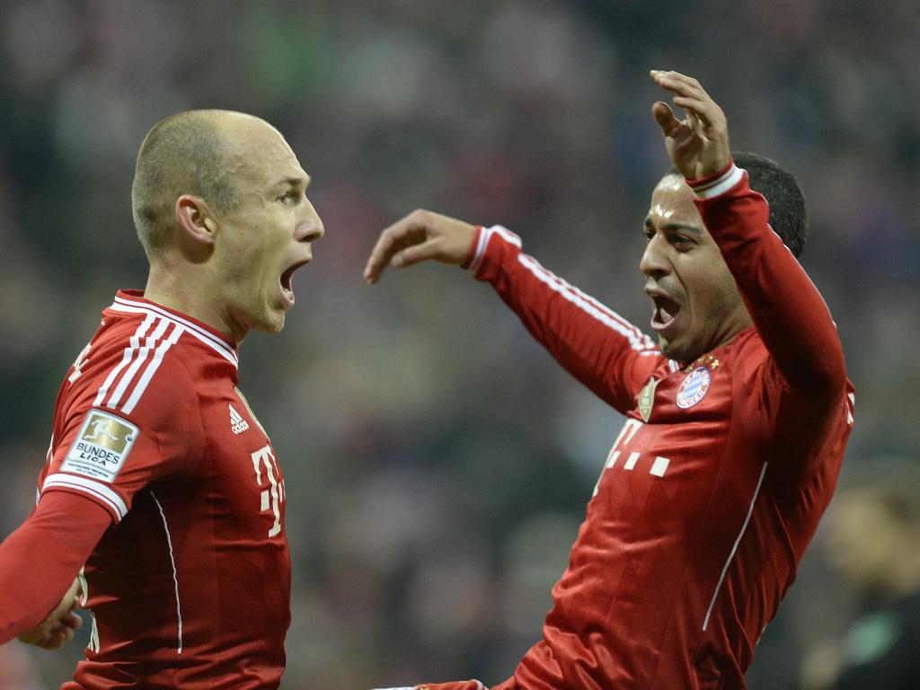 Könnten im Pokalfinale gemeinsam jubeln: Arjen Robben und Thiago Alcantara