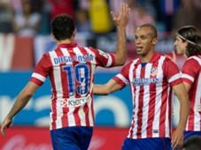 Joao Miranda, Diego Costa - Atletico Madrid La Liga 04192014