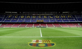 Interior view of the Camp Nou stadium FC Barcelona