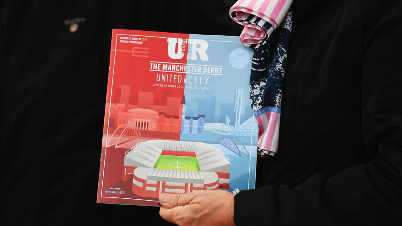 Manchester derby programme