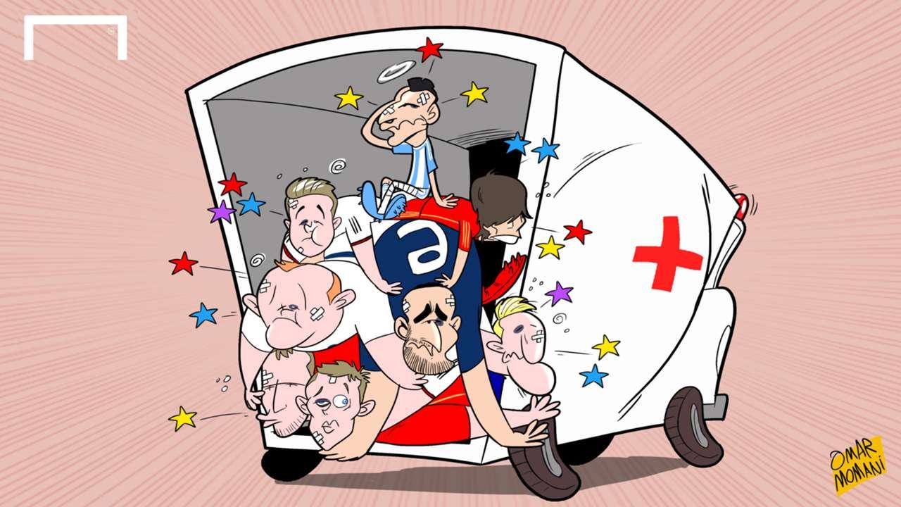 Cartoon: International injuries