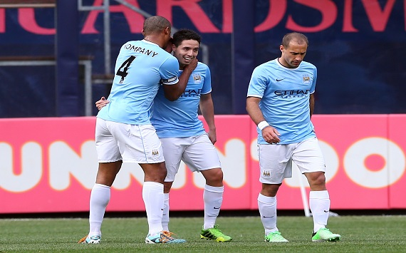 Kompany, Nasri, Zabaleta - Manchester City