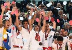 Celebrations Trophy Sevilla Benfica Europa League final 05142014