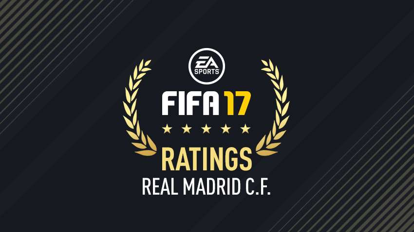 Real Madrid FIFA 17 ratings