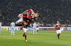 Kevin Prince Boateng of AC Milan celebrate