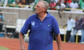 AFC Leopards coach Jan Koops in action during a match.