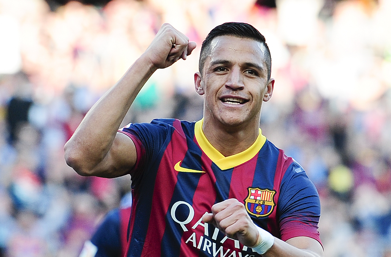 Alexis Sanchez Barcelona Osasuna 03162014 La Liga