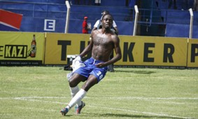 AFC Leopards defender Jackson Saleh at Machakos Stadium