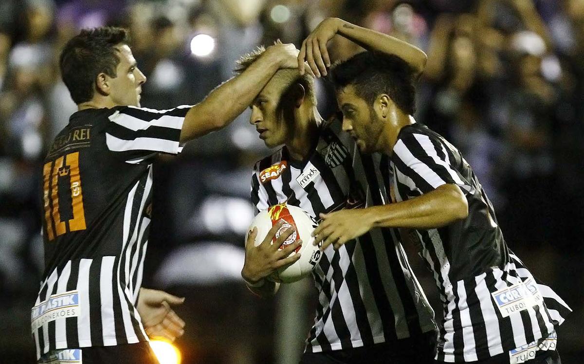 Montillo, Neymar, Felipe Anderson - Santos x Bragantino