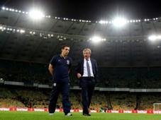 FIFA 2014 World Cup Qualifier_Ukraine v England, Roy Hodgson, Gary Neville (L)