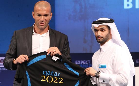 Hassan al-Thawadi & Zinedine Zidane (Getty)