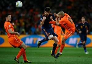 Nigel de Jong Xabi Alonso Netherlands Spain World Cup 2010 final