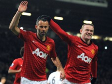 FA Cup - Manchester United v Fulham, Ryan Giggs and Wayne Rooney