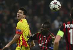 Lionel Messi Mario Balotelli Barcelona AC Milan Champions League