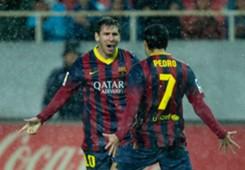 Lionel Messi Pedro Rodriguez Sevilla Barcelona La Liga 02092014
