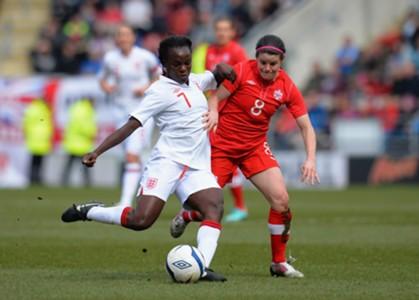 Eniola Aluko; Diana Matheson - England vs. Canada