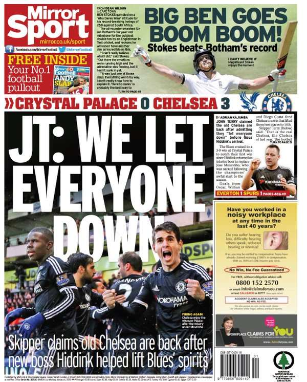 Daily Mirror 4/1/16