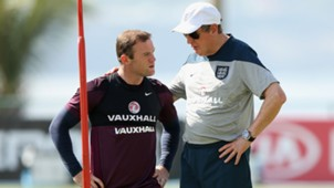 Wayne Rooney & Roy Hodgson   England