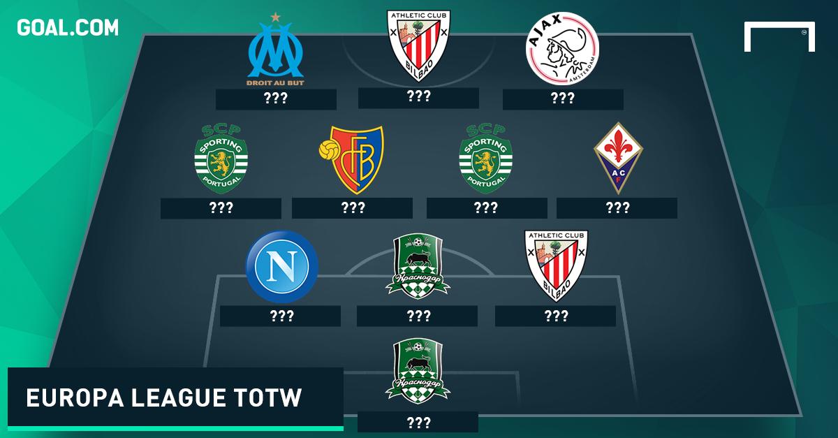 Europa League Team of the Week 26112015