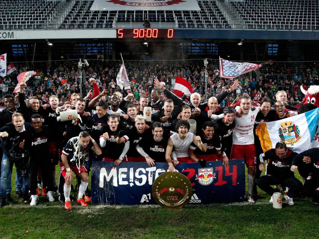 RB Salzburg celebrate championship in Austria