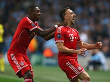 Franck Ribery David Alaba Bayern Munich Manchester City Champions League 10022013