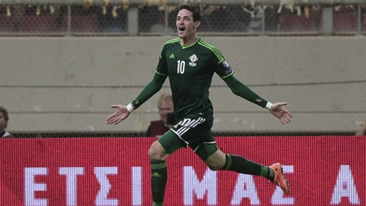 Kyle Lafferty Euro 2016 qualifying Northern Ireland v Greece 141014