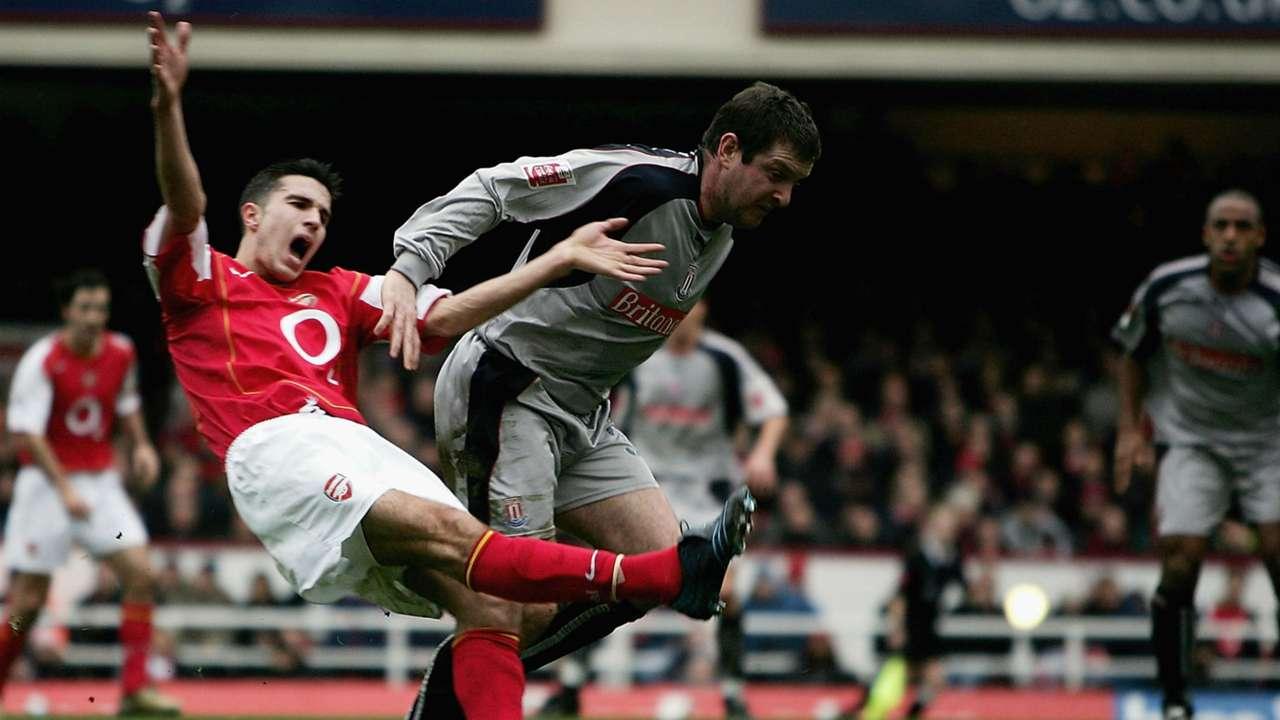 Robin van Persie Arsenal v Stoke 090105