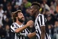 Dreh- und Angelpunkt bei Juventus: Andrea Pirlo und Paul Pogba