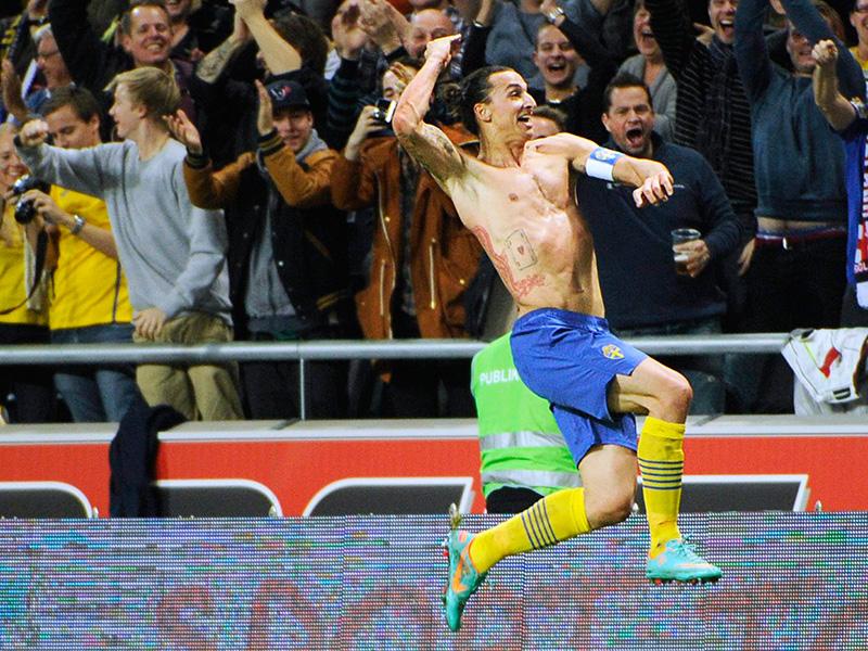 Zlatan Ibrahimovic Sweden England International Friendly 11142013