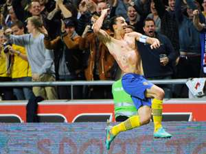 Zlatan Ibrahimovic Sweden England International Friendly 11142013
