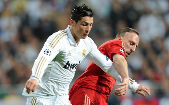Cristiano Ronaldo, Franck Ribery, Real Madrid vs Bayern Munich, 042512