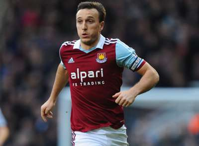 West Ham United midfielder Mark Noble